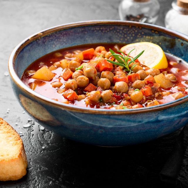 soupe harira aux pois chiches